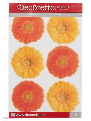 Герберы жёлто-оранжевые DECORETTO. Цвет: желтый, оранжевый