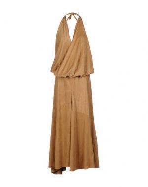 Длинное платье MARIAGRAZIA PANIZZI. Цвет: верблюжий