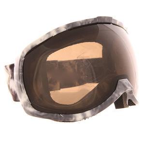 Маска для сноуборда  Bomber Nw Slick Acid Wash Silver Smoke I/S Eyewear. Цвет: черный,белый