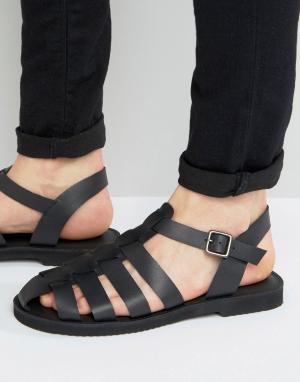 KG Kurt Geiger Черные кожаные сандалии By. Цвет: черный
