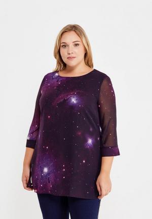 Блуза Ulla Popken. Цвет: фиолетовый