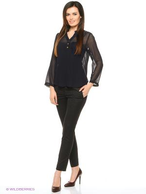 Блузка Compania Fantastica. Цвет: темно-синий