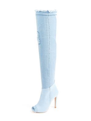 Ботфорты LaBella Vita. Цвет: голубой