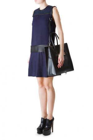 Прямое платье с вставками на плечах и поясе Proenza Schouler. Цвет: синий