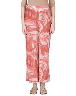 Повседневные брюки IVORIES. Цвет: коралловый