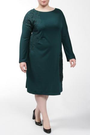 Платье Qneel. Цвет: изумрудный