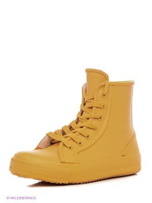 Кеды KEDDO. Цвет: желтый