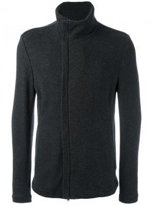 Куртка со смещенной молнией Forme Dexpression D'expression. Цвет: серый