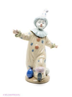 Фигурка Клоун с шариками Pavone. Цвет: синий, молочный, кремовый, белый