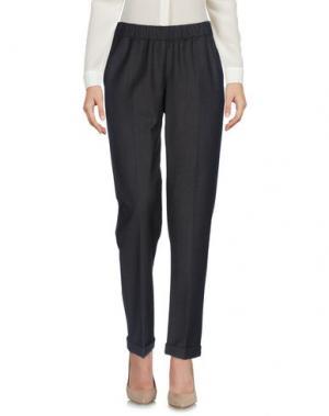 Повседневные брюки WHYCI. Цвет: темно-коричневый