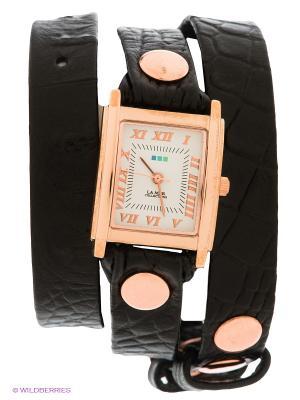 Часы La Mer Collections. Цвет: черный, золотистый