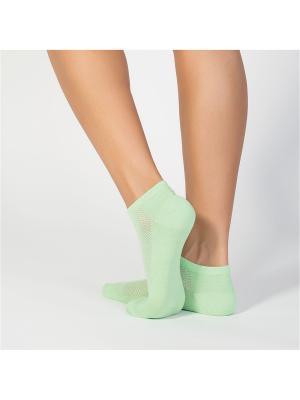 Носки женские cot IBD731003 pistacchio Incanto. Цвет: зеленый