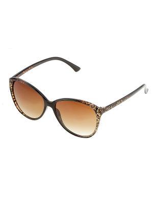 Солнцезащитные очки. Bijoux Land. Цвет: черный, коричневый