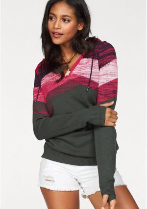 Пуловер Kangaroos. Цвет: зеленый/синий/розовый