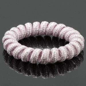 Резинка-Пружинка для волос, арт. РПВ-228 Бусики-Колечки. Цвет: сиреневый