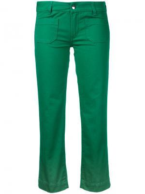 Укороченные джинсы The Seafarer. Цвет: зелёный