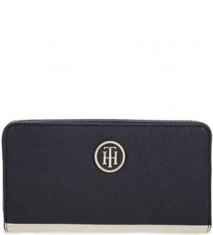 Синий кошелек на молнии Tommy Hilfiger. Цвет: синий