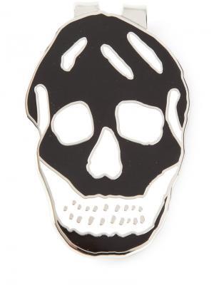 Зажим для денег с черепом Alexander McQueen. Цвет: металлический