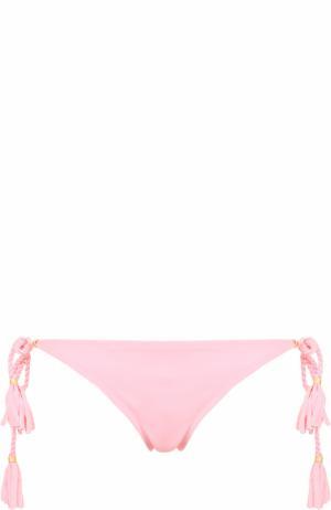 Плавки-бикини с бантами Lazul. Цвет: розовый
