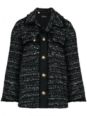 Удлиненный твидовый пиджак Twin-Set. Цвет: чёрный