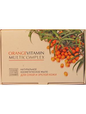 Orange vitamin multicomplex. Мыло косметическое натуральное для сухой и зрелой кожи Царство Ароматов. Цвет: белый