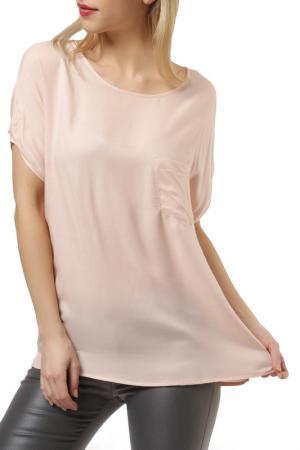 Блузка UNQ. Цвет: розовый
