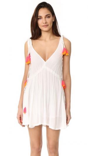 Короткое платье Brooke SUNDRESS. Цвет: белый/розовый/оранжевый