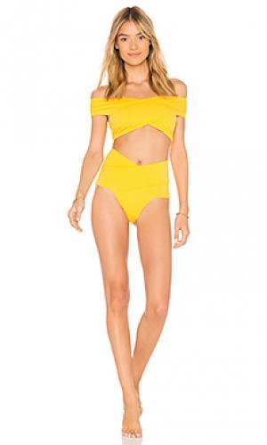 Комплект бикини lucette OYE Swimwear. Цвет: желтый