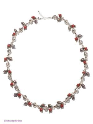 Ожерелье Infiniti. Цвет: серебристый, прозрачный, бордовый