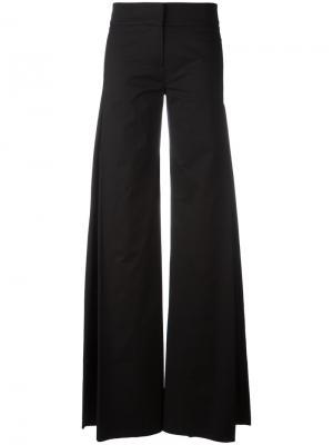 Удлиненные широкие брюки Io Ivana Omazic. Цвет: чёрный