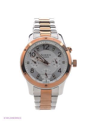 Часы Sheen SHE-3807SPG-7A CASIO. Цвет: белый