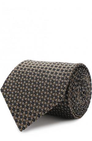 Шелковый галстук с узором Lanvin. Цвет: бежевый