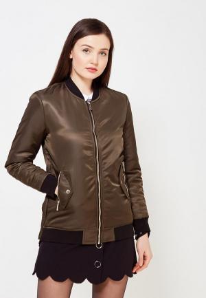 Куртка утепленная Morgan. Цвет: хаки
