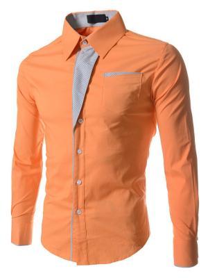 Рубашка VipDressCode. Цвет: оранжевый