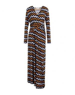 Длинное платье MICHAEL KORS. Цвет: оранжевый