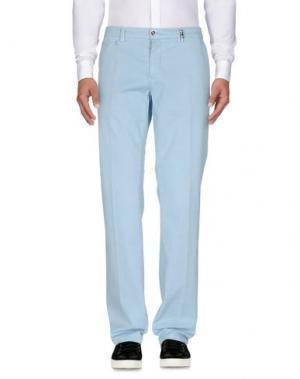 Повседневные брюки TRAMAROSSA. Цвет: небесно-голубой