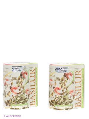 Чайный набор Букет Белое волшебство Basilur. Цвет: зеленый, бледно-розовый