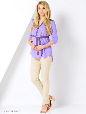 Блузка для беременных и кормящих FEST. Цвет: сиреневый, фиолетовый