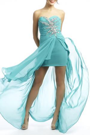 Платье YASMIN. Цвет: бирюзовый