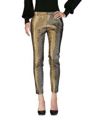 Повседневные брюки ROOM 52. Цвет: золотистый