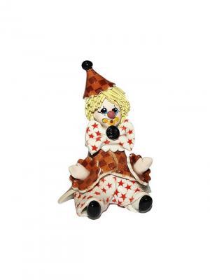 Статуэтка Клоун Zampiva. Цвет: коричневый, белый, красный