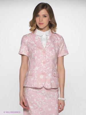 Пиджак Finn Flare. Цвет: бледно-розовый, белый