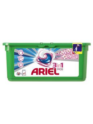 Гель в растворимых капсулах Liquid Capsules Touch of Lenor Fresh 30X28.8г Ariel. Цвет: зеленый