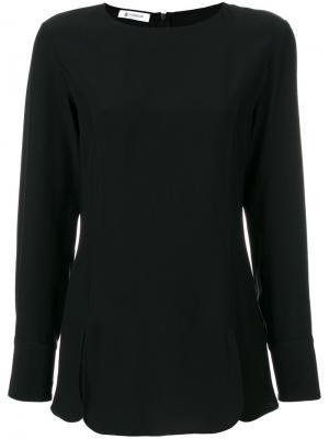 Блузка с круглым вырезом Dondup. Цвет: чёрный