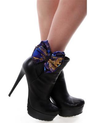 Украшение - клипсы на обувь Шелковые банты Синие Драгоценности SEANNA. Цвет: фиолетовый