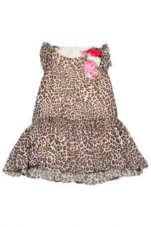 Платье Monnalisa. Цвет: леопардовый