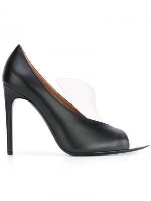Туфли дизайна колор-блок Pollini. Цвет: чёрный