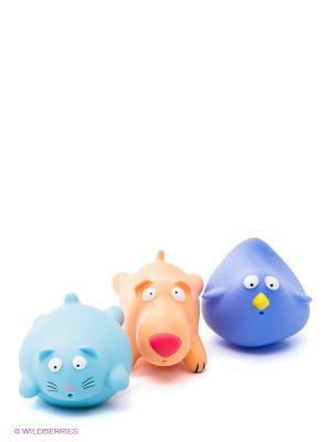 Набор для ванной Домашние животные Amico. Цвет: голубой, оранжевый
