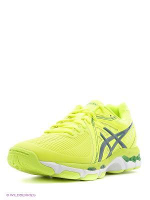 Спортивная обувь GEL-NETBURNER BALLISTIC ASICS. Цвет: желтый, зеленый, синий