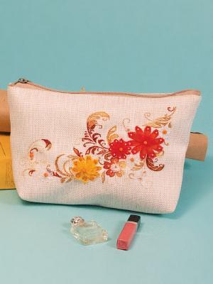 Набор для шитья и вышивания текстильная сумка Солнечная Матренин Посад. Цвет: бежевый